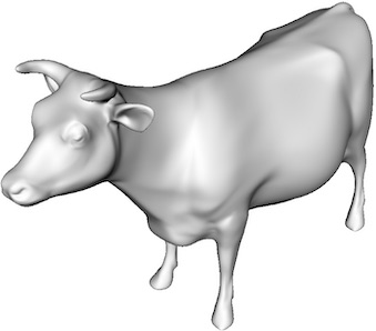 Diffuse rendering of a cow