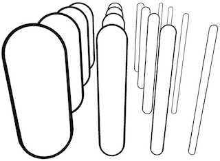 Drawing of cylinders