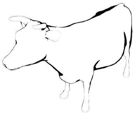 Thresholded Lambertian cow