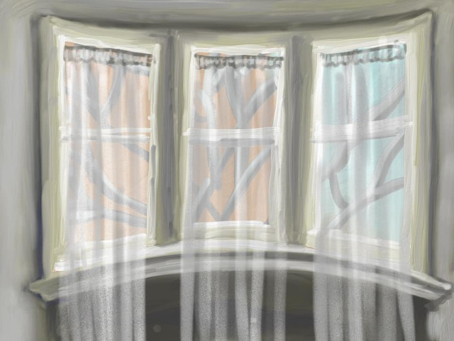 Curtains painting