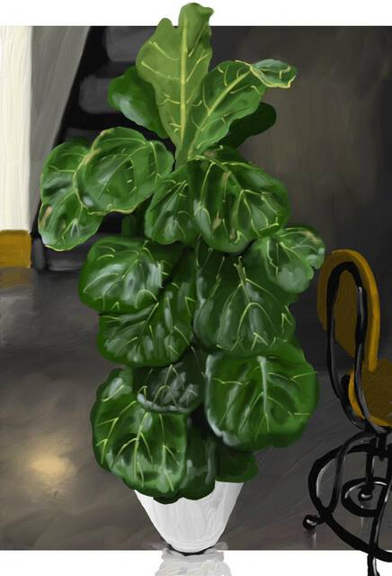 Fiddle leaf painting
