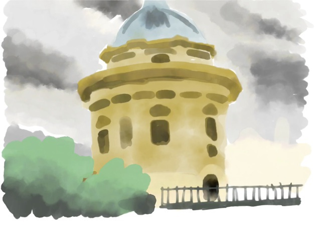 partial Radcliffe Camera painting