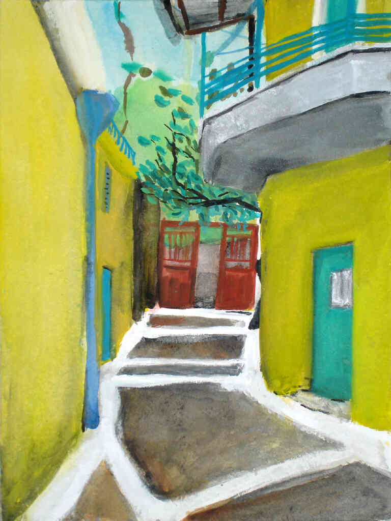 alley painting
